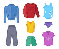 Man set tricot clothes colored Royalty Free Stock Images