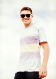 Man in shades outside Royalty Free Stock Images