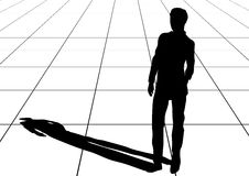 Man shadow. On pavement slabs. 10EPS Stock Image