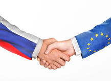 Man shake hands. Friendship countries Royalty Free Stock Photos