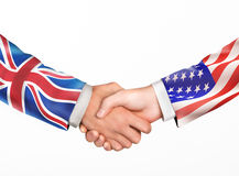 Man shake hands. Friendship countries Stock Image