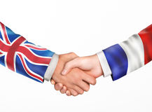 Man shake hands. Friendship countries Stock Images