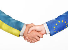 Man shake hands. Friendship countries Royalty Free Stock Images