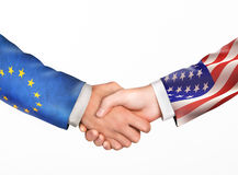 Man shake hands. Friendship countries Stock Photos