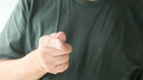 Man shakes his finger stock video