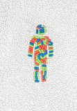 Man shape put of pills and drugs. Male icon symbol made of drug pills put into shape as mosaic Stock Images