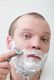 Man shave Stock Photography