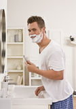 Man Shaving Royalty Free Stock Images