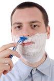 Man shaving 2 Royalty Free Stock Photos