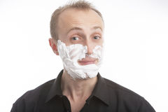 Man before shaving Stock Image