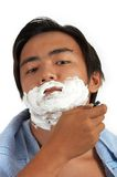 A man shaving Royalty Free Stock Image