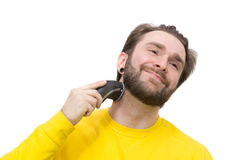 Man shaving beard Royalty Free Stock Photo