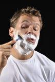 Man shaving Royalty Free Stock Photography