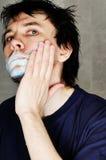 Man shaving. Royalty Free Stock Photo