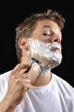 Man shaving Royalty Free Stock Image