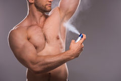 Man shaving. Royalty Free Stock Images