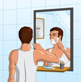 Man Shaving Stock Images