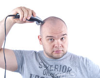 man shaving young Στοκ Εικόνες