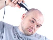 man shaving young Στοκ εικόνα με δικαίωμα ελεύθερης χρήσης