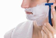 man shaving young Στοκ Εικόνα