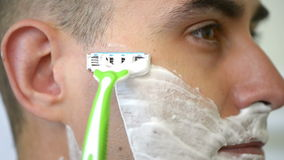 Man Shaving stock video