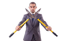 Man with shears Royalty Free Stock Photo