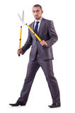 Man with shears in job Royalty Free Stock Photos