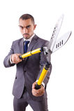 Man with shears in job Stock Images