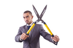 Man with shears in job Stock Photos