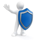 Man with Shield (clipping path included) Stock Image