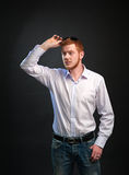 Man in a shirt Stock Images