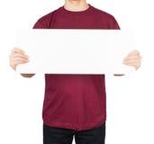 Man shirt board Royalty Free Stock Images