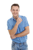 Man with shirt and jeans Royalty Free Stock Image
