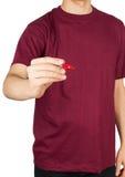 Man shirt marker Royalty Free Stock Photo