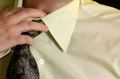 Man with shirt and tie Stock Images