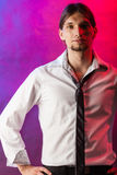 Man in shirt and tie. Royalty Free Stock Photo