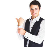 Man in shirt and vest Stock Photo