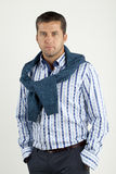 Man in shirt and vest Royalty Free Stock Image