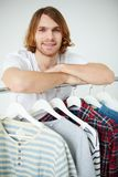 Man and shirts Royalty Free Stock Photography