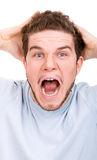 Man in a shock Royalty Free Stock Images