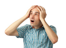 Man shocked Royalty Free Stock Photography