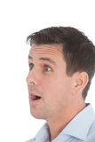 Man with a shocked expression Royalty Free Stock Photos