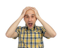 Man with a shocked facial expression Royalty Free Stock Images
