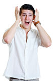 Man with shocked facial expression Stock Photography