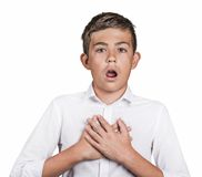 Man shocked surprised in disbelief, no way reaction Stock Photo