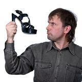 The man with a shoe Stock Images