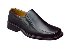 Man shoe. Good quality leather shoe for working man Royalty Free Stock Photography