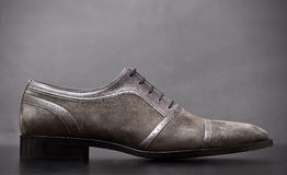 Man shoe. Formal man shoes dominate the brown color Stock Photo