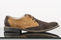 Man shoe made from brown leather Stock Image