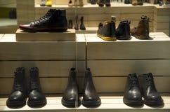 Man shoe store Royalty Free Stock Image